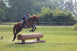 Emily and Scotch at the eventing clinic